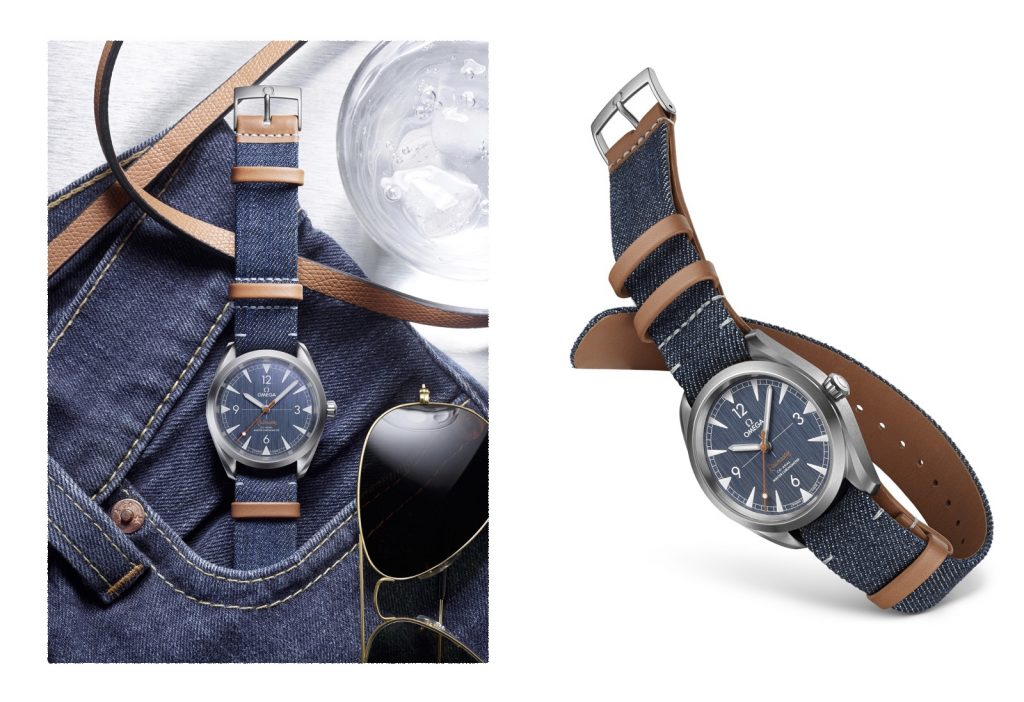 Copie Omega Railmaster Denim Bracelet