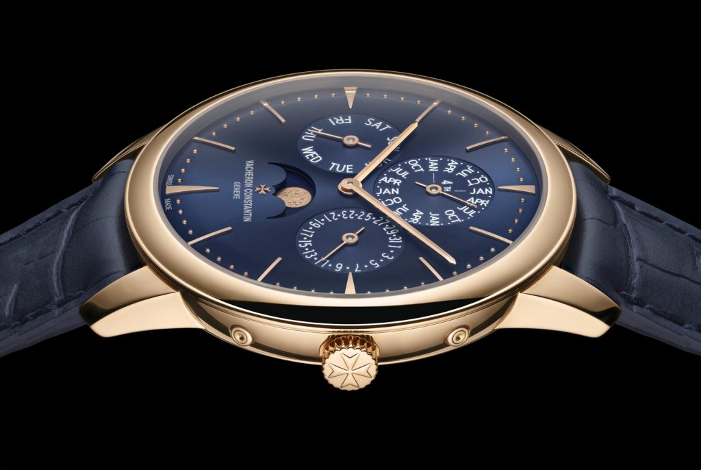 Replique Vacheron Constantin Patrimony Perpetual Calendar Ultra-Thin Cadran Bleu