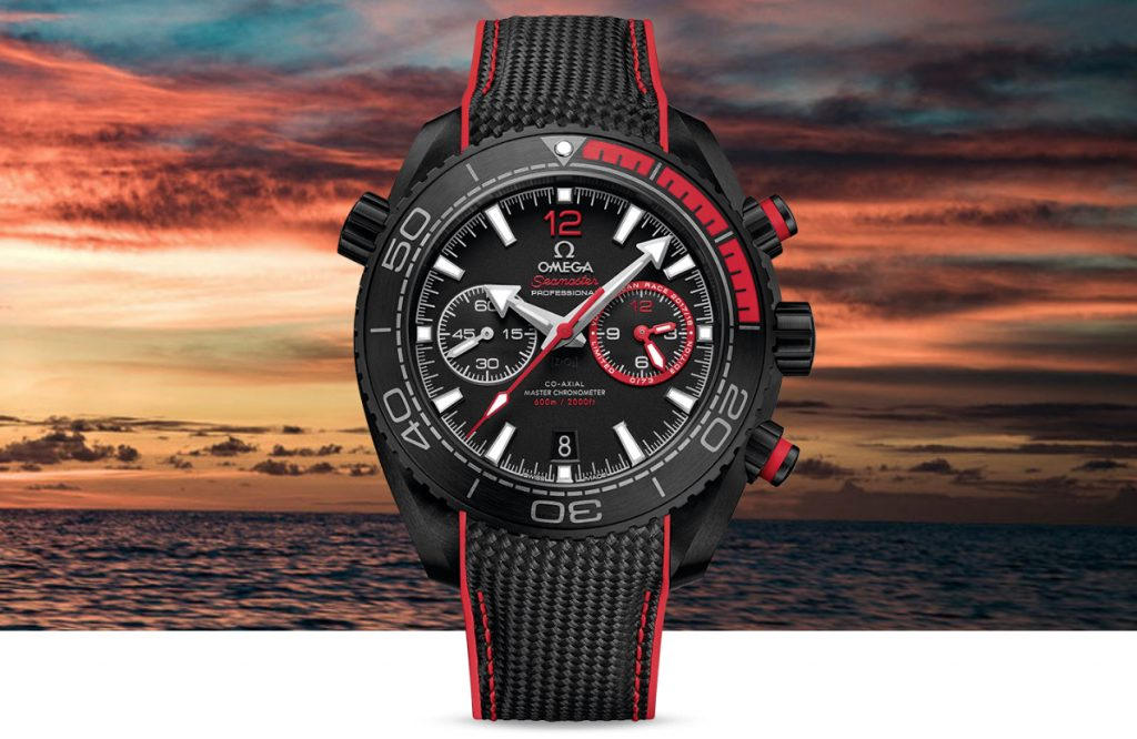 Fausse Omega Seamaster Planet Ocean Deep Black Volvo Ocean Race
