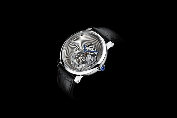 Copie Montre Rotonde de Cartier Reversed Tourbillon