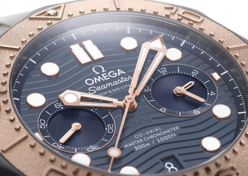 Copie Omega Seamaster Diver 300M Chronographe Or Titane Tantale